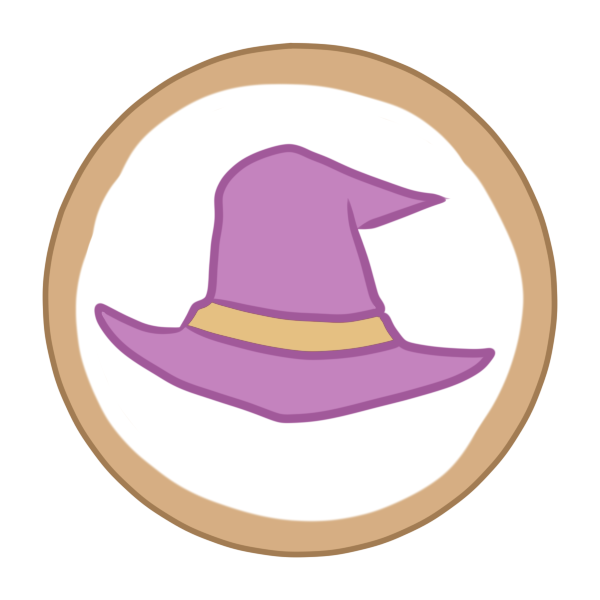 アイシングクッキー(帽子)のイラスト