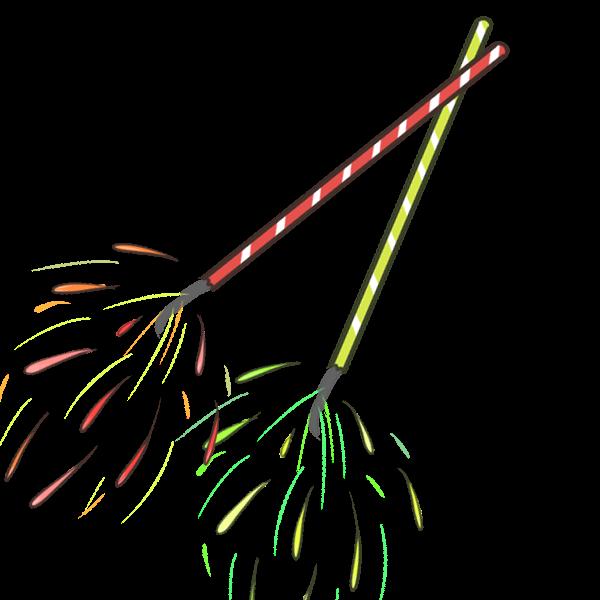 手持ち花火のイラスト