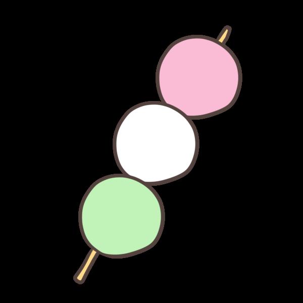 お花見だんごのイラスト