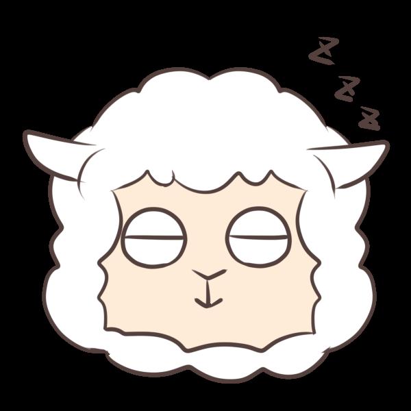眠るヒツジのイラスト