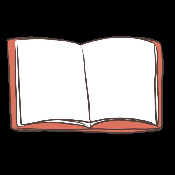 読みかけの本のイラスト