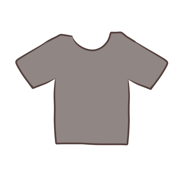 グレーのTシャツのイラスト