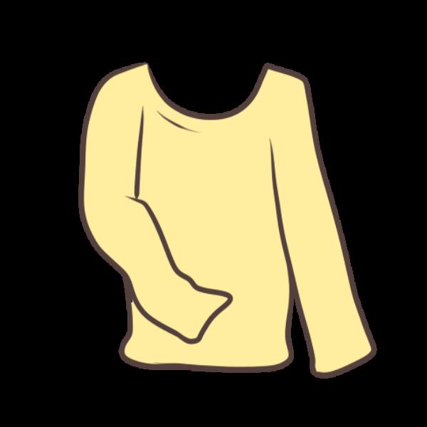 黄色のロンTのイラスト