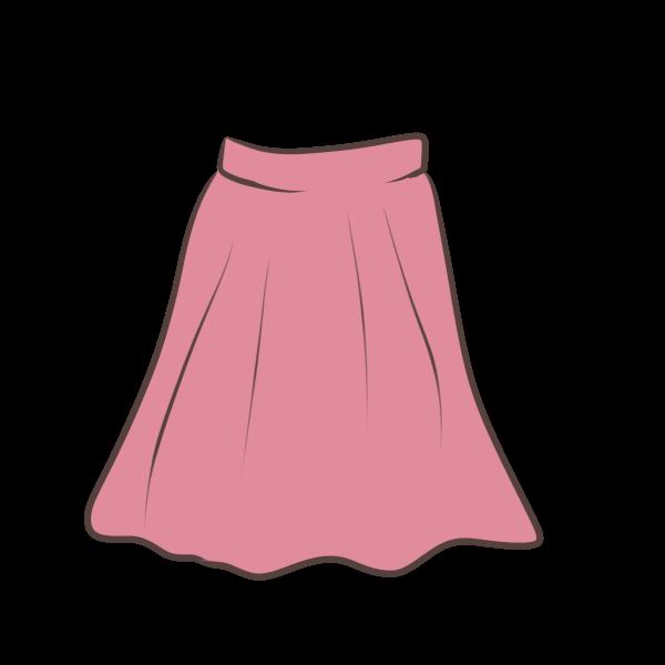 スカートのイラスト
