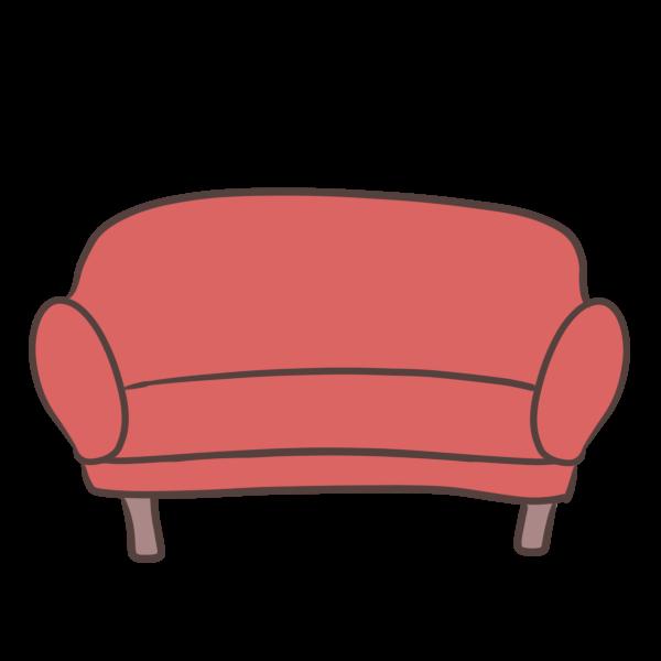赤いソファーのイラスト