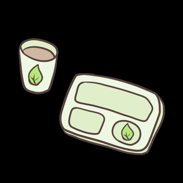食器セットのイラスト
