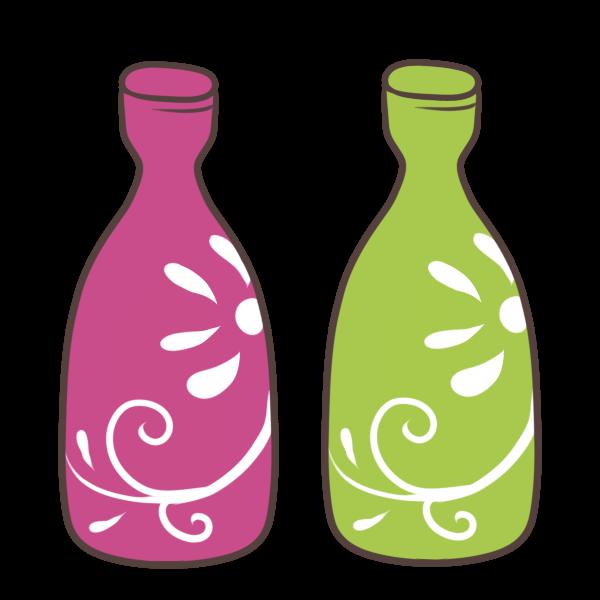 オシャレな花瓶のイラスト