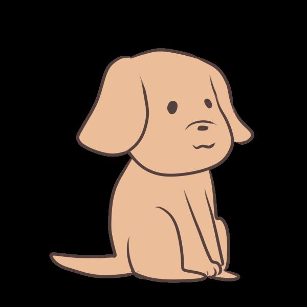 待つ犬のイラスト