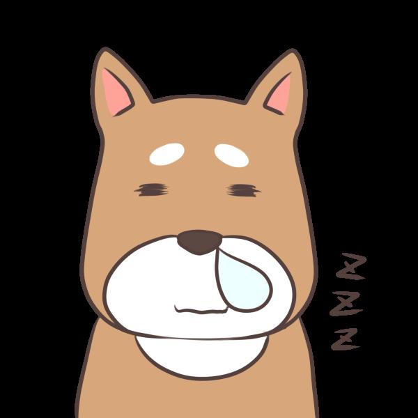 居眠り犬のイラスト