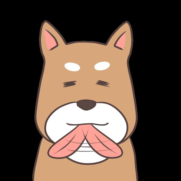 不機嫌な犬のイラスト