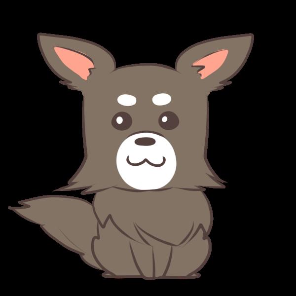 お年玉が嬉しい犬のイラスト