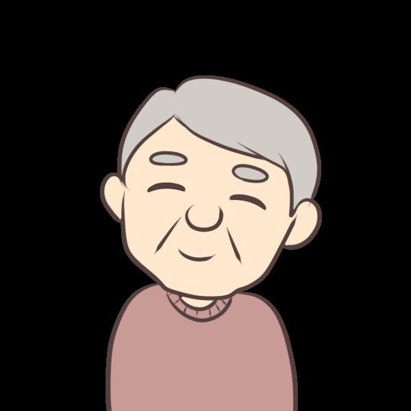 笑顔のおじいちゃんのイラスト