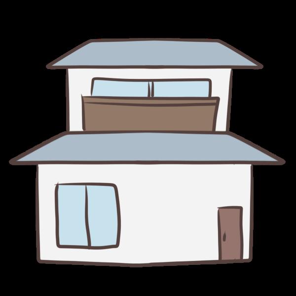 落ち着いた色の家のイラスト