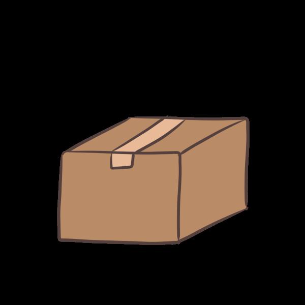 ネットで頼んだ荷物のイラスト