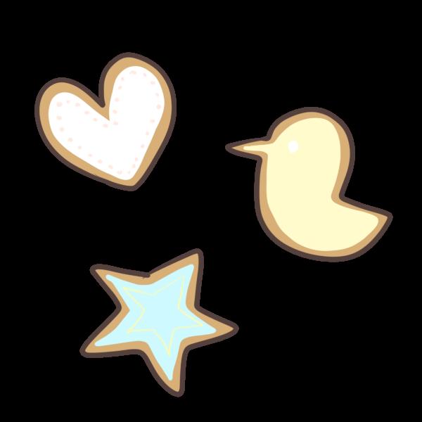 アイシングクッキーのイラスト