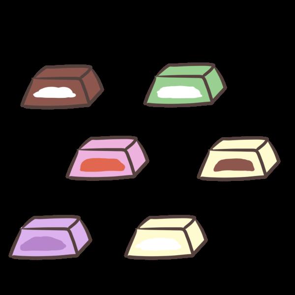 色々なチョコのイラスト