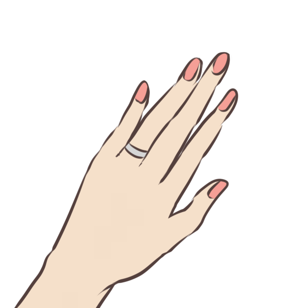 指輪をはめた手のイラスト