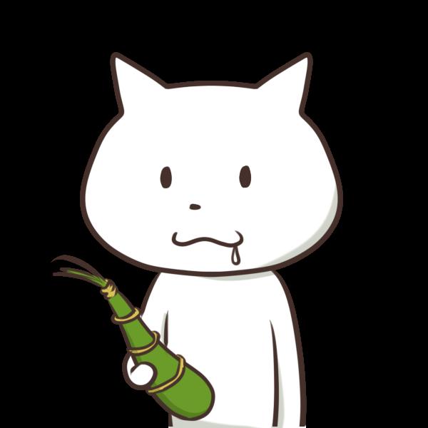 ちまきとネコのイラスト