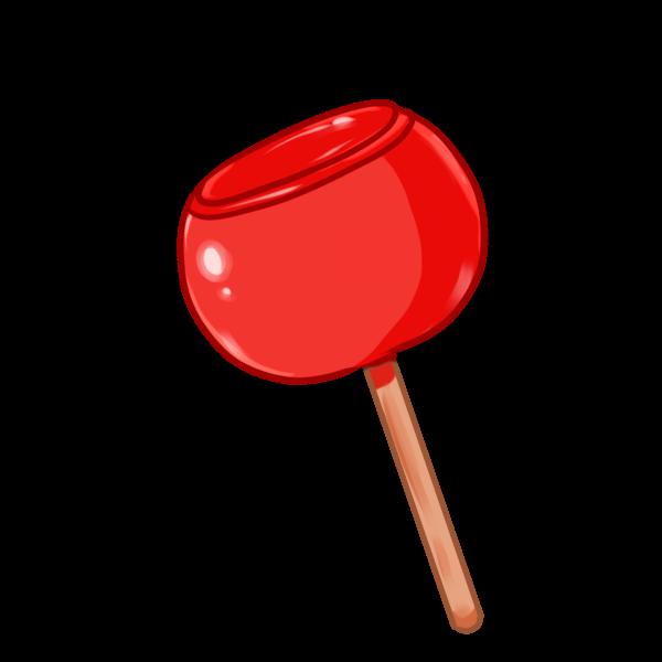 リンゴ飴のイラスト