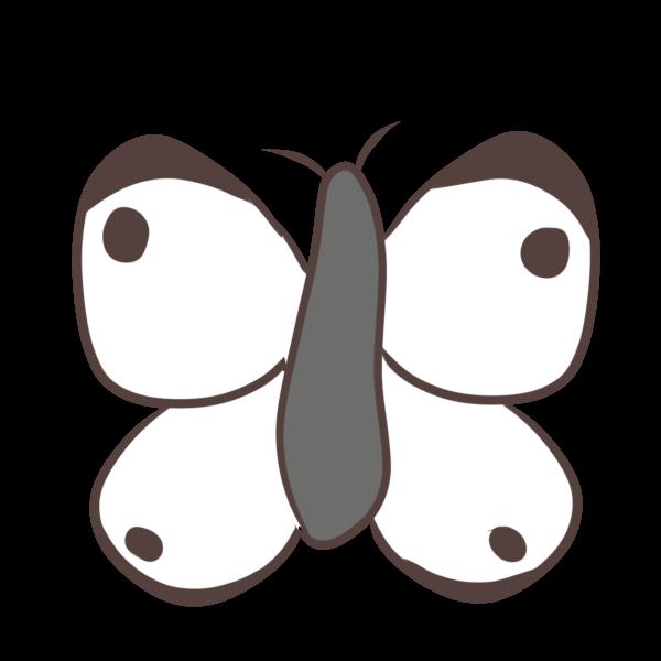 モンシロチョウのイラスト