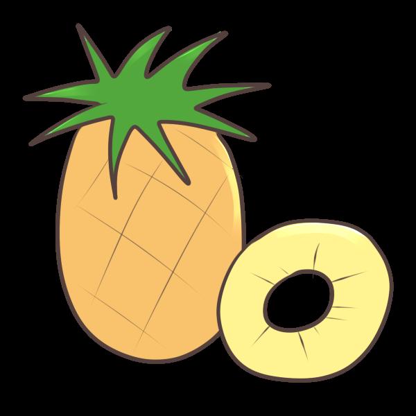 パイナップルのイラスト