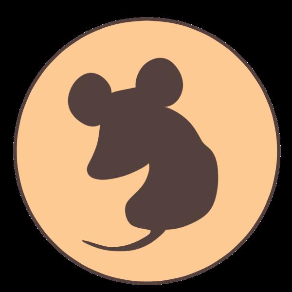 ネズミ(シルエット)のイラスト