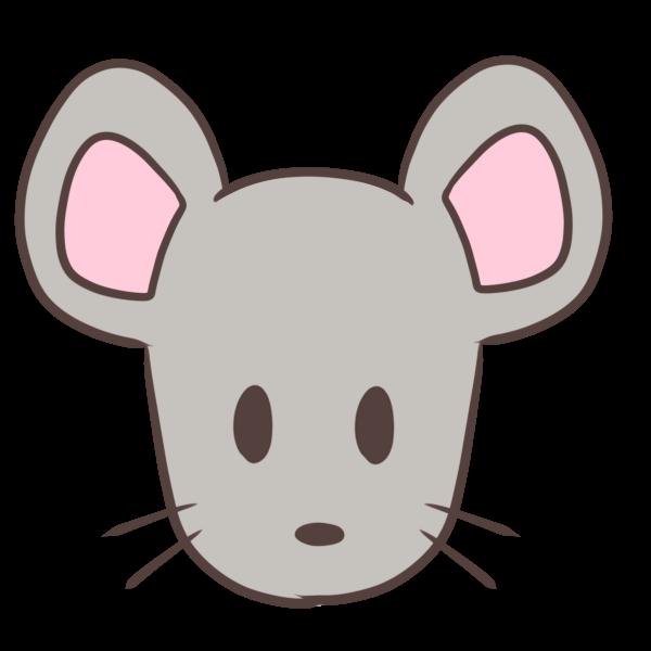 真顔ネズミのイラスト