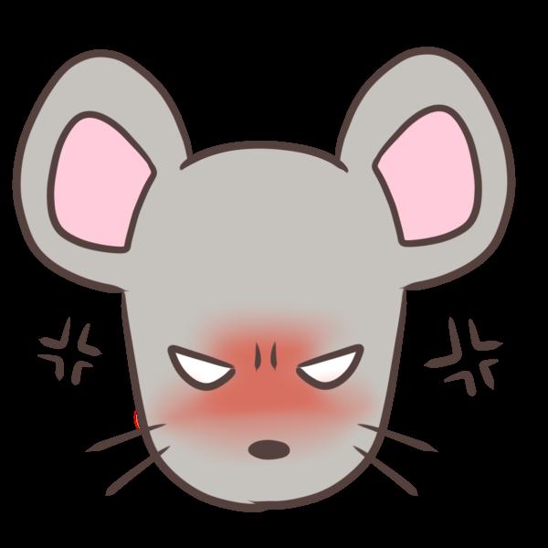 怒るネズミのイラスト
