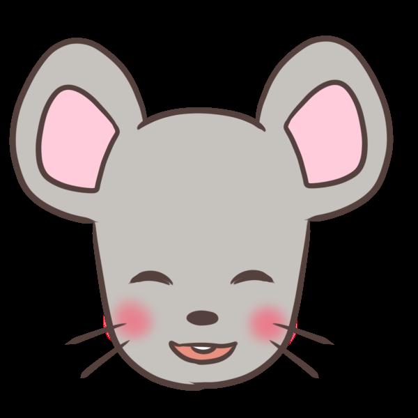 照れるネズミのイラスト