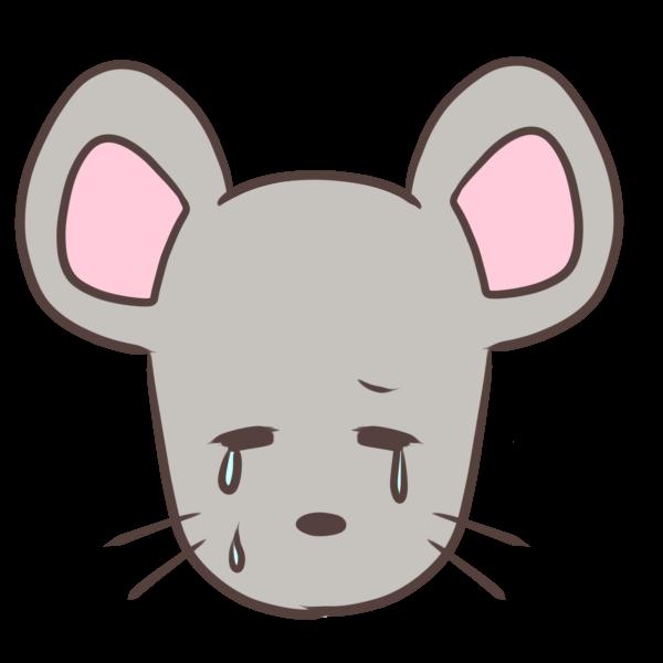 泣くネズミのイラスト