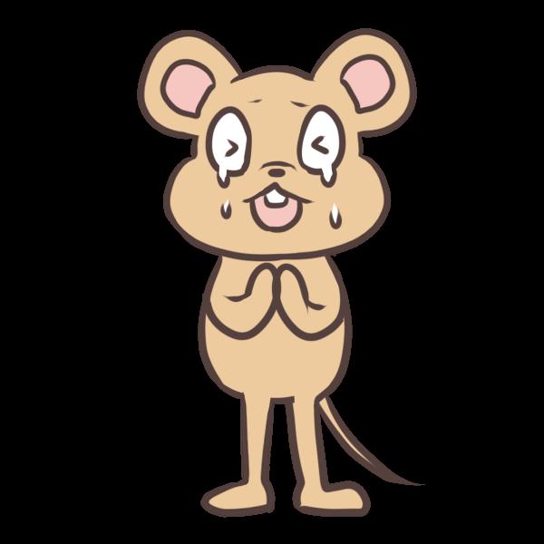 泣いてねだるネズミのイラスト