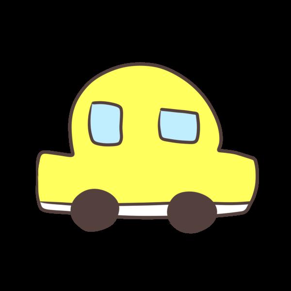 黄色の車のイラスト