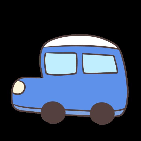 青の車のイラスト