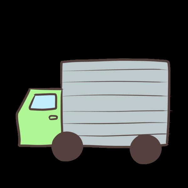 緑のトラックのイラスト