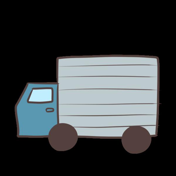 青のトラックのイラスト