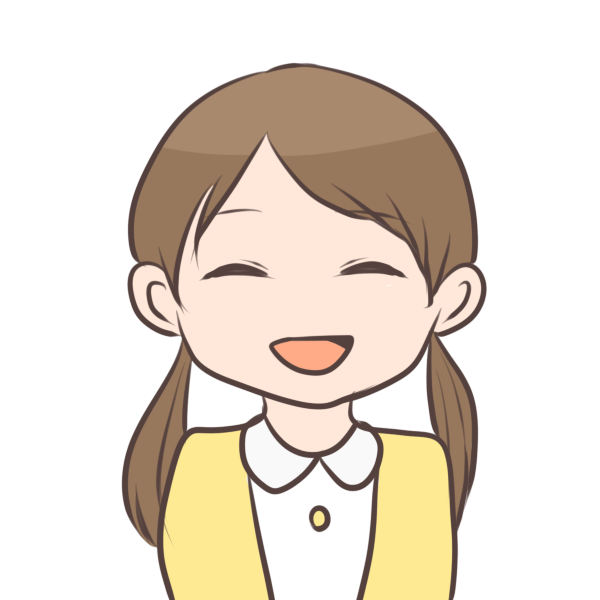 笑顔の女の子のイラスト
