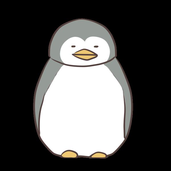 眠るペンギンのイラスト