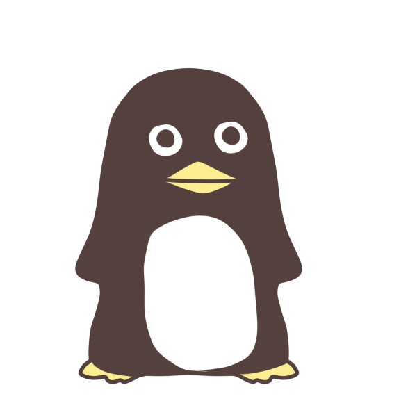 黒いペンギンのイラスト