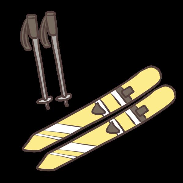スキーのイラスト