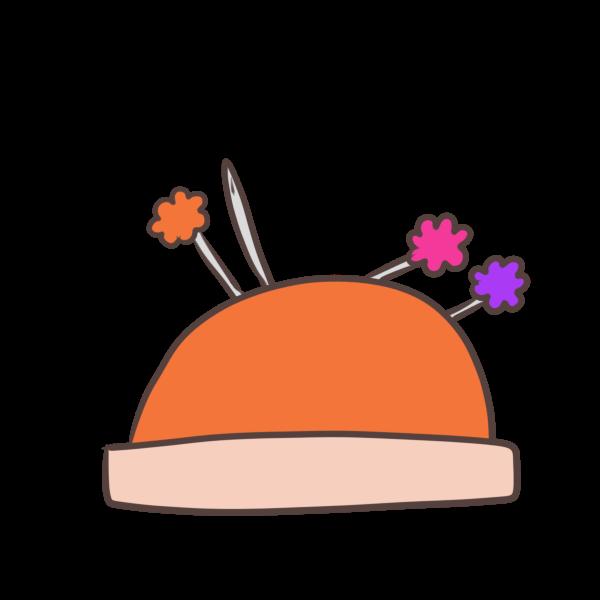 針山とまち針のイラスト