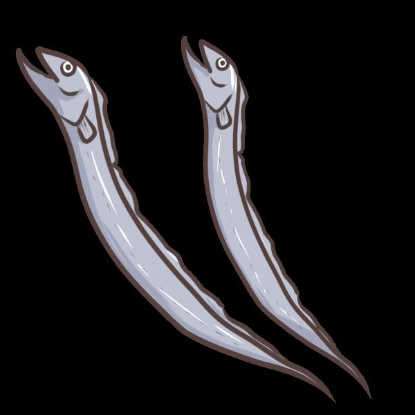 太刀魚のイラスト