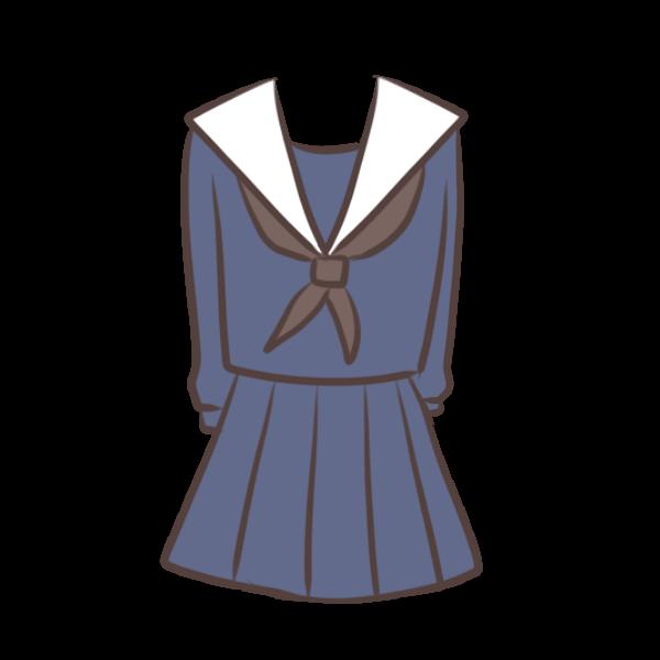 セーラー服のイラスト