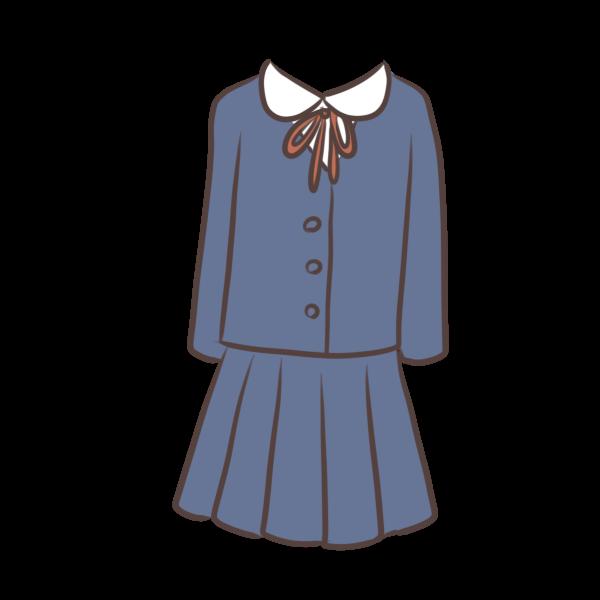丸襟の制服のイラスト