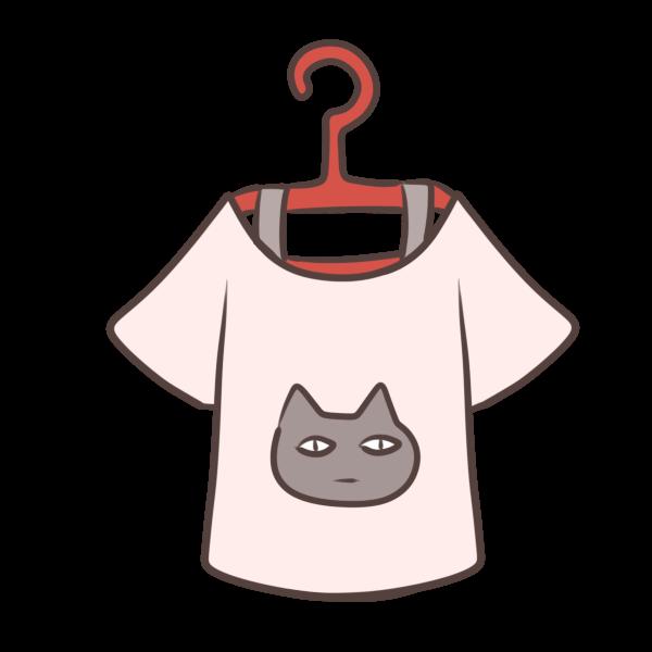ハンガーとTシャツのイラスト