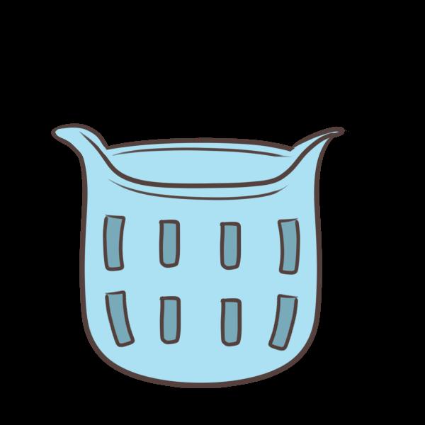 洗濯かごのイラスト