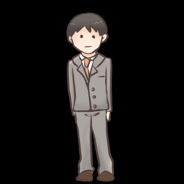 新入社員(男)のイラスト