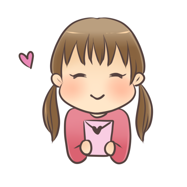 お年玉で喜ぶ女の子のイラスト
