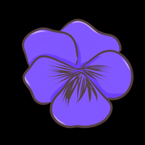 パンジー(紫)のイラスト