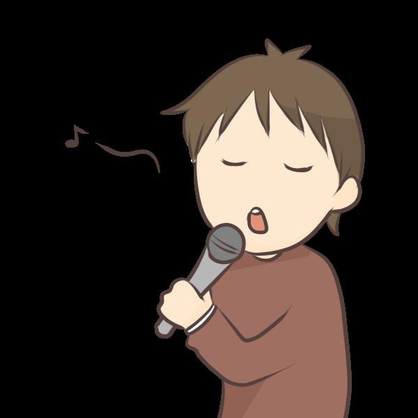 歌う男の人のイラスト