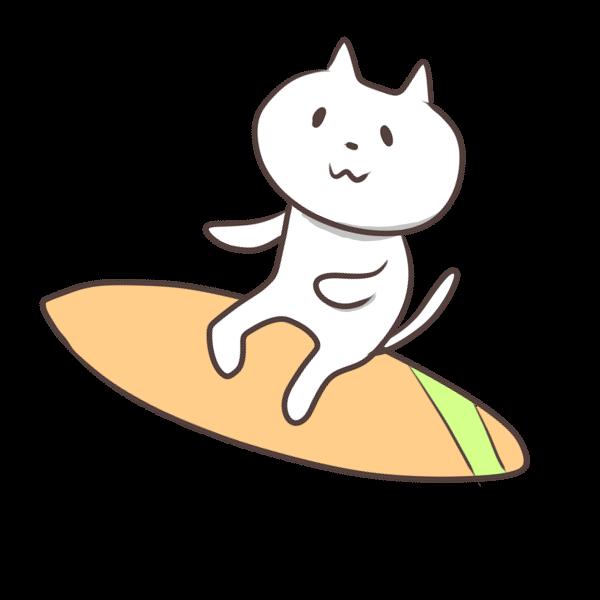 サーフィンのイラスト